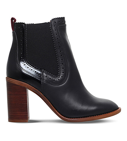 KG KURT GEIGER Safari leather ankle boots (Black