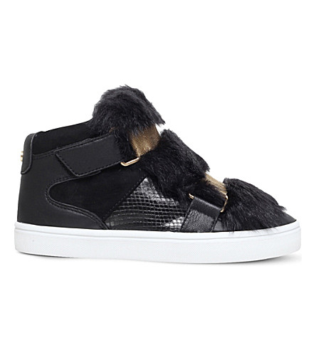 CARVELA Lovely faux-fur trainers (Black