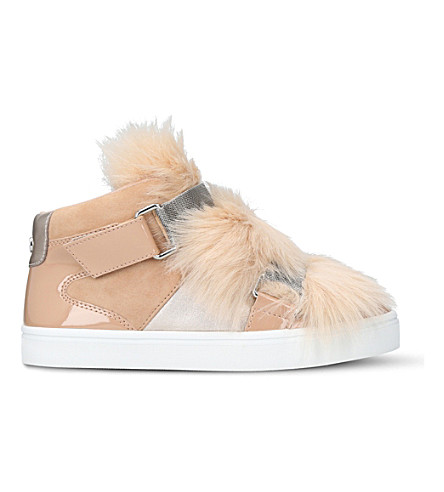 CARVELA Lovely faux-fur trainers (Nude