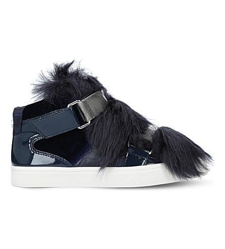 CARVELA Lovely faux-fur trainers (Blue