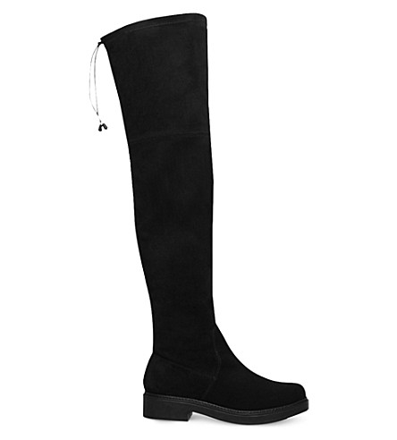 KG KURT GEIGER Trooper suede over-the-knee boots (Black