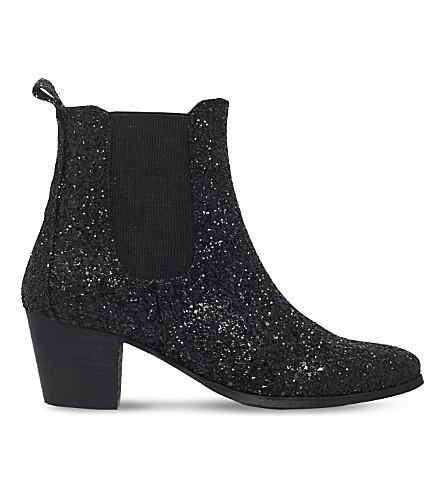 KG KURT GEIGER Razzle glitter Chelsea boots (Black
