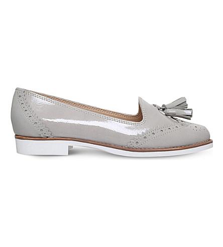 KG KURT GEIGER Koke leather tasselled loafers (Grey/light