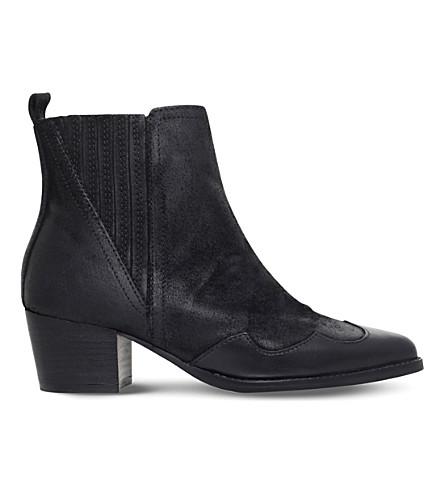 KG KURT GEIGER Saint suede ankle boots (Black