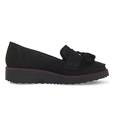 CARVELA 地狱皮革平台乐福鞋 (黑色