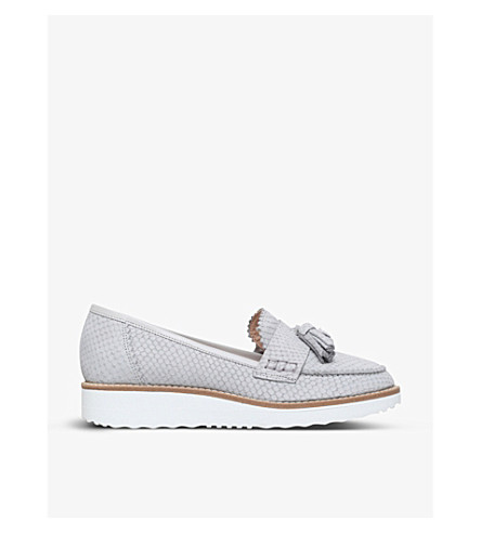 CARVELA Limbo snake-effect leather loafers (Grey