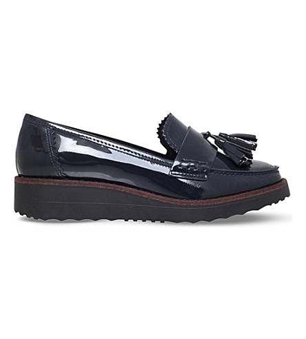 CARVELA Limbo patent leather flatform loafers (Navy