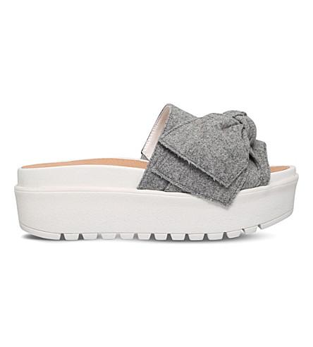 KG KURT GEIGER Noddy bow-detail fabric sandals (Grey