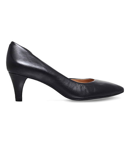 CARVELA COMFORT Amy leather court shoes (Black