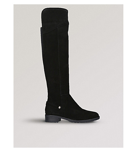 CARVELA COMFORT Vivian knee-high suede boots (Black