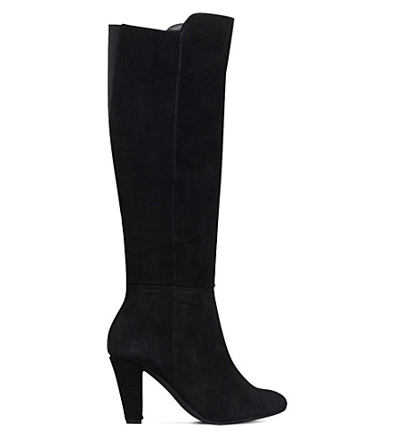 CARVELA COMFORT Viva suede heeled knee-high boots (Black