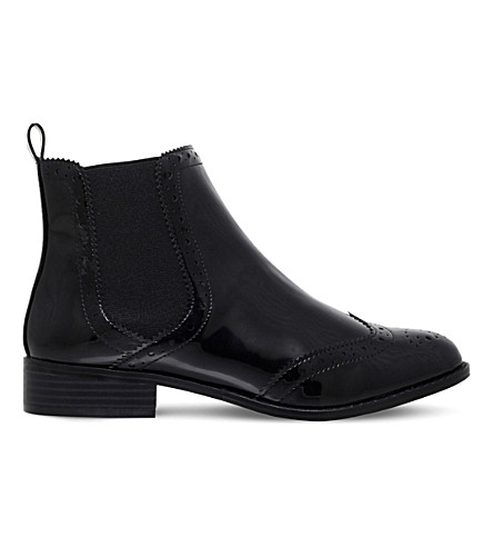 MISS KG Sneek brogue patent boots (Black