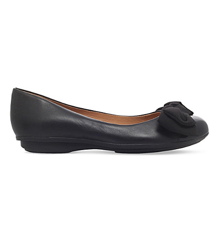CARVELA COMFORT Clara leather ballet flats (Black