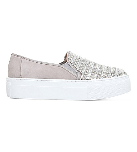 KG KURT GEIGER Latina embellished skate shoes (Grey