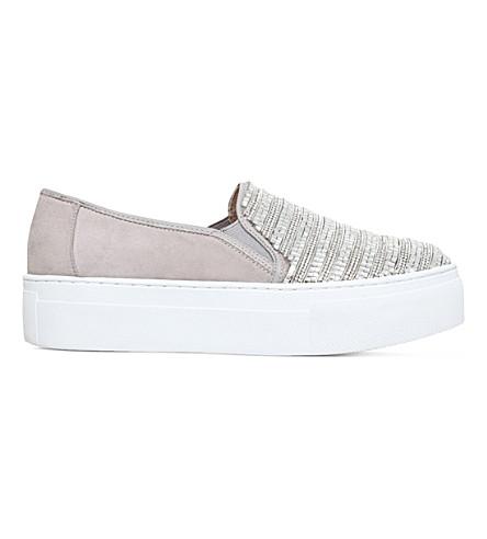 KG KURT GEIGER 拉丁装饰冰鞋鞋子 (灰色