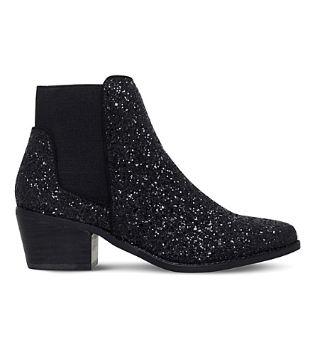 MISS KG Spider metallic glitter Chelsea boots (Blk/other