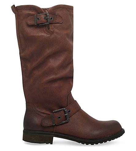 MISS KG 冬膝高靴子 (棕色