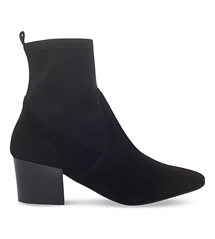 CARVELA Silk suede boots (Black
