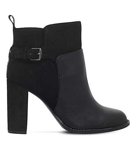 NINE WEST Quinah buckled leather boots (Black