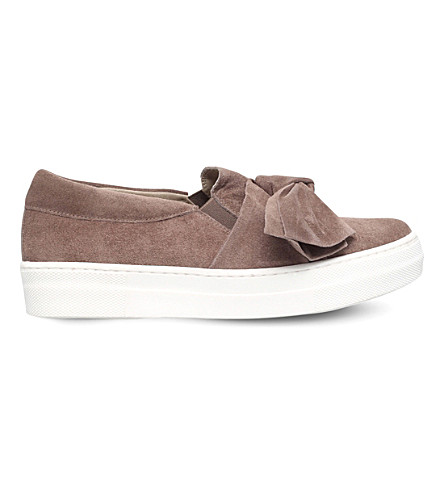 KG KURT GEIGER Little suede bow skate shoes (Taupe
