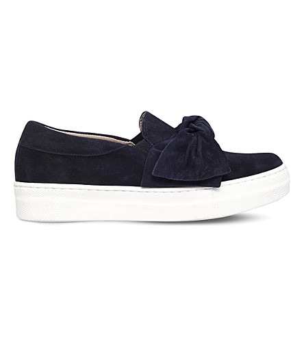 KG KURT GEIGER Little suede bow skate shoes (Navy