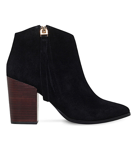 CARVELA Smashing zipped suede ankle boots (Black