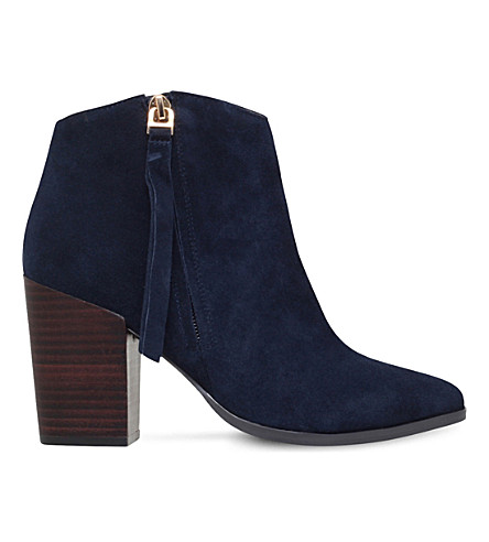 CARVELA Smashing zipped suede ankle boots