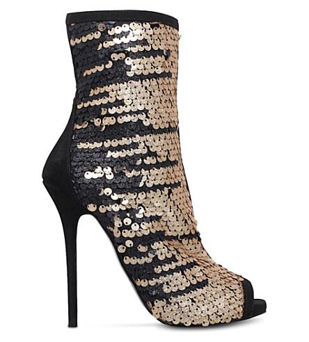CARVELA Glamour sequin-embellished sandals (Gold