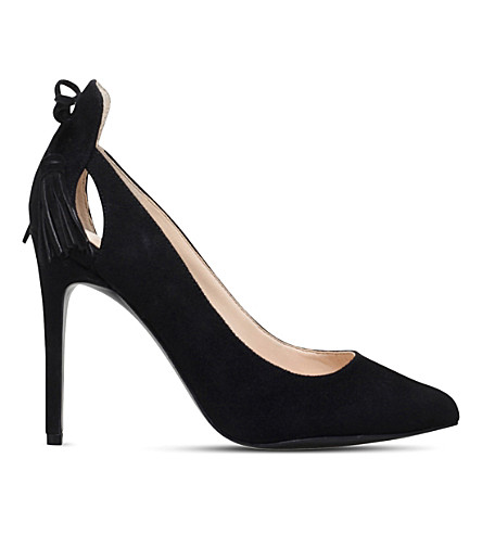 NINE WEST Erienne tasselled suede court shoes (Black