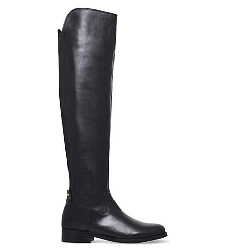 KG KURT GEIGER Varsity leather over-the-knee boots (Black