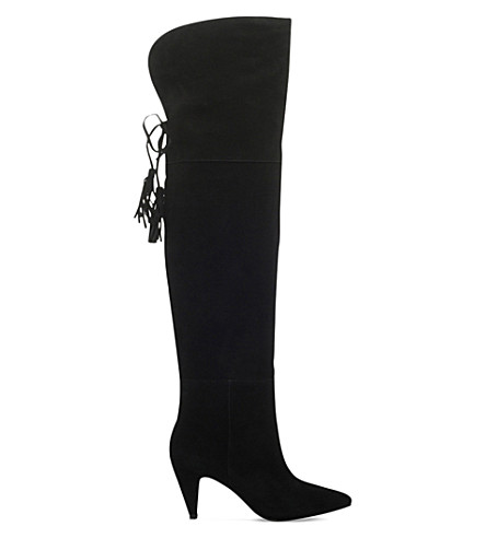 NINE WEST Josephine suede heeled boots (Black