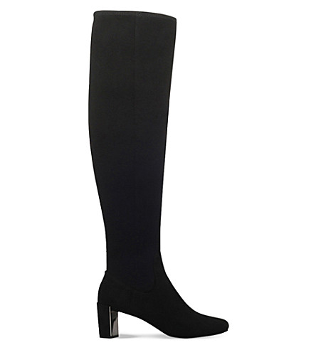 ... NINE WEST Filmar stretch over-the-knee boots (Black. PreviousNext