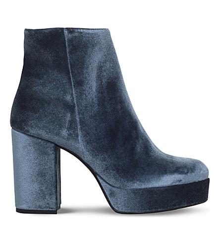 CARVELA Sweden velvet ankle boots (Grey