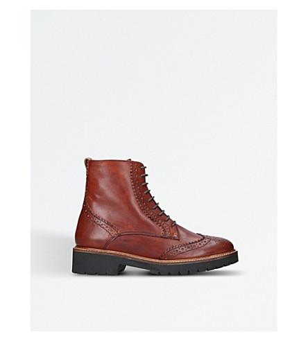 CARVELA 蜗牛皮革踝靴 (棕褐色