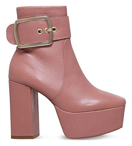 KG KURT GEIGER Spritz platform leather calf boots (Pink