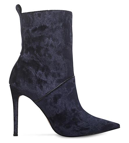 KG KURT GEIGER Rascal velvet calf boots (Navy
