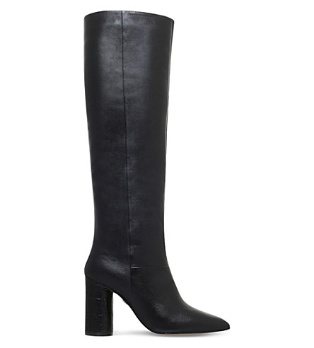 KG KURT GEIGER Trance leather knee-high boots (Black