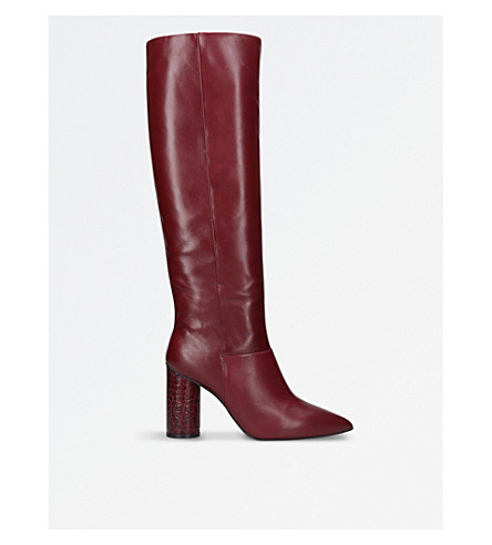 KG KURT GEIGER Trance leather knee-high boots (Wine