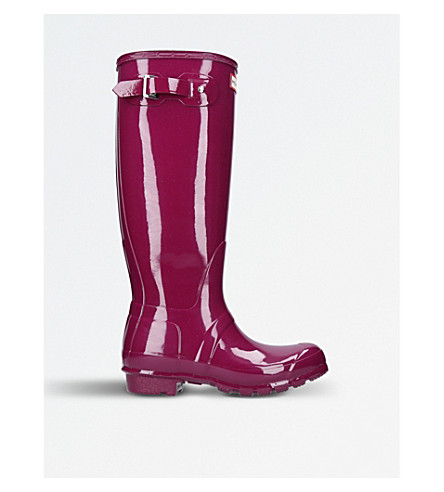 HUNTER Original Gloss tall wellies (Purple