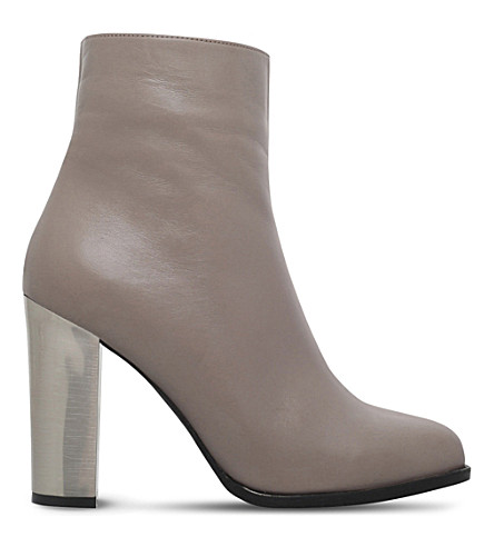CARVELA Salvador metallic-heel leather ankle boots (Grey