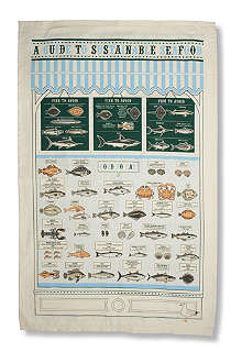 STUART GARDINER Sustainable seafood guide tea towel