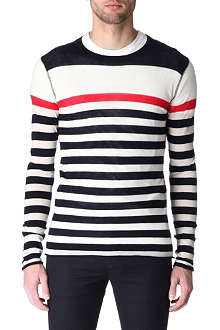 JOSEPH Striped cashmere jumper