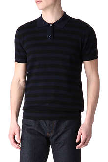 JOSEPH Striped polo jumper