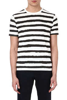 JOSEPH Painted stripes cotton t-shirt