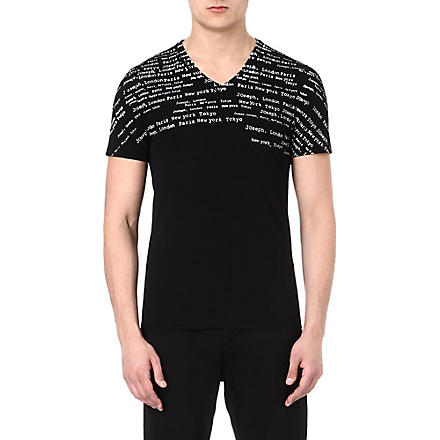 JOSEPH Type printed cotton t-shirt (Black