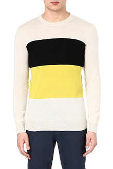JOSEPH Colour blocked cashmere jumper