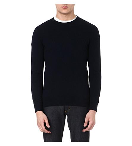 JOSEPH Crew-neck cashmere jumper (Navy