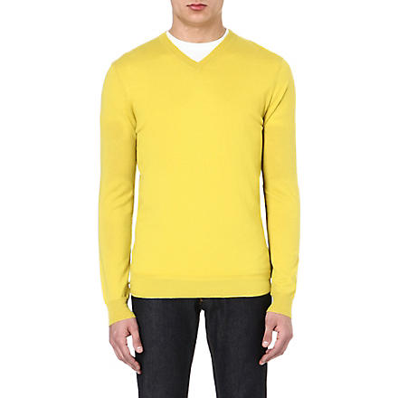 JOSEPH V-neck cashmere jumper (Gold