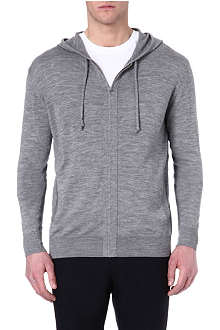 JOSEPH Elbow-patch wool hoody