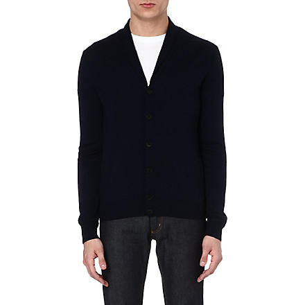 JOSEPH Shawl-collar wool cardigan (Navy
